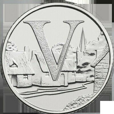 A - Z Alphabet Coin Hunt 2018 Letter V VILLAGES (Rare)(Ten Pence/10p)