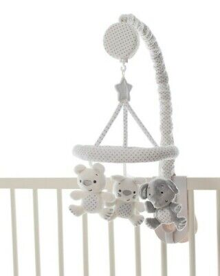 Playgro cot mobile. As new. Grey and white. Rrp $50