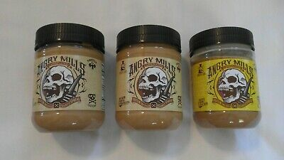 (3) Sinister Labs Angry Mills Caffeinated Peanut Spread White Chocolate 12 Oz