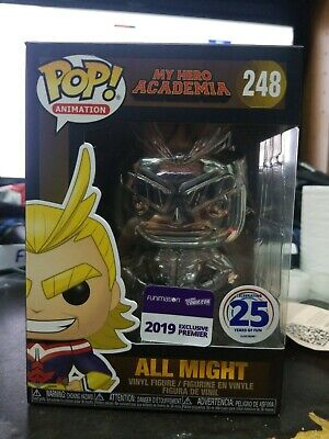 Funko Pop My Hero Academia (Chrome) ALL MIGHT 2019 NYCC Funimation Exclusive