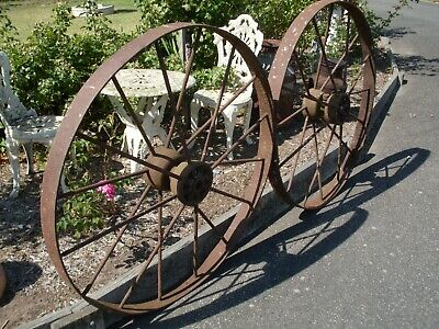 Pair of Vintage Harvester, Wagon Wheels Steel, Antique, retro,Collectibles,