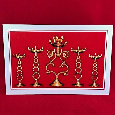 VINTAGE 90's TRADITIONAL LAMPS GREETING CARD Help Age India Elderly Tribute! x50