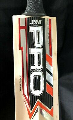 54mm Monster Edges!! JSM RED Edition LAMINATE English Willow Cricket Bat