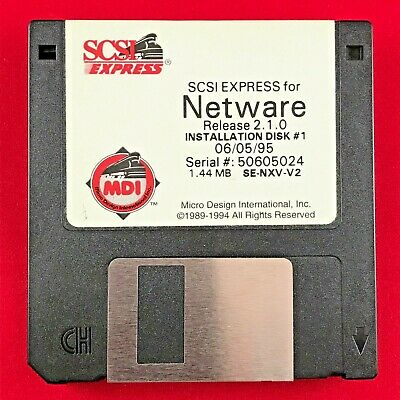 SCSI Express Netware ver2.1.0 Installation disks Micro Design International 1995