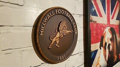 Millwall Lion crests print Size a4 frame with mount.