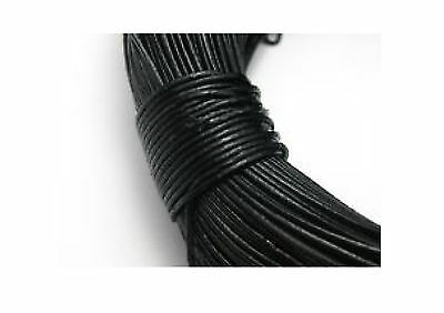 Leather Cord Black 2mm Round String Lace Thong Necklace & Jewellery making DIY