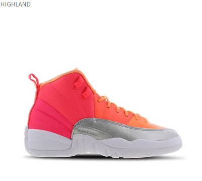 Nike Jordan 12 Retro Racer Pink White Hot Punch Kids Boys Girls Trainers Sizes