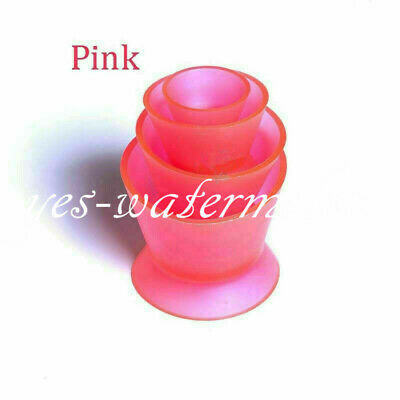 1 Set Pink Rubber Silicone Mixing Bowl Cup Dental Lab Mixing Acrylics Bowl Hot