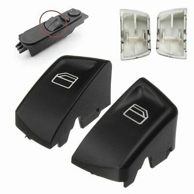 1 Pair Car Electric Window Control Power Switch Push Button Covers For Merc