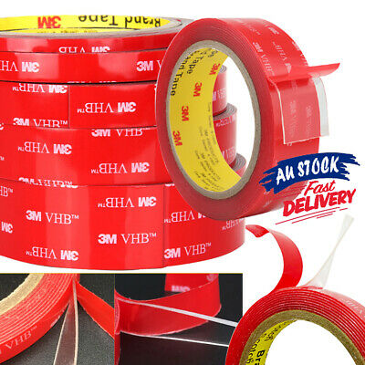 NEW 3M VHB Adhesive Tape Double-sided AU High strength Acrylic Transparent Clear