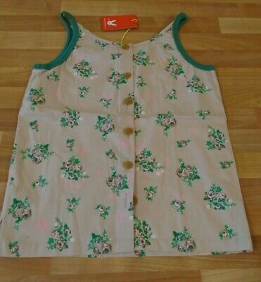 No Added Sugar Floral Vest top buttons BNWT 11-12 RARE