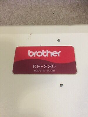Brother kh230 chunky knitting machine