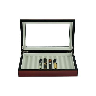 Luxury pen display boxes matt cherry storage cases