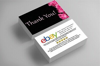 250 Full Color Business Cards | Ebay Sellers Thank You | Floral | Free Shipping