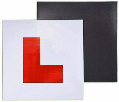 L Plates fully magnetic Magnetic  New Learner Driver L-Plate Secure Just Pass