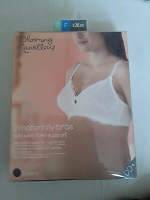 mothercare blooming marvellous maternity bras 2 pack brand new