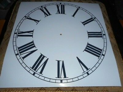 "Large Paper (Card) Clock Dial - 12"" M/T - Roman - MATT WHITE -Parts/Spares"