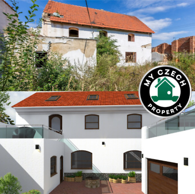 Renovation Property outside of PRAGUE Czech republic huge walled house