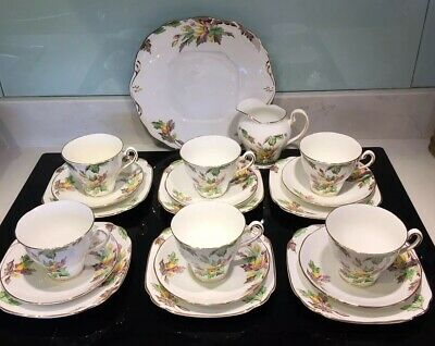 Vintage Salisbury Bone China 20 Piece Floral Pattern Teaset