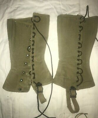 WWII US ARMY M-1938 SPATS LEGGING GAITERS CANVAS Used  #3