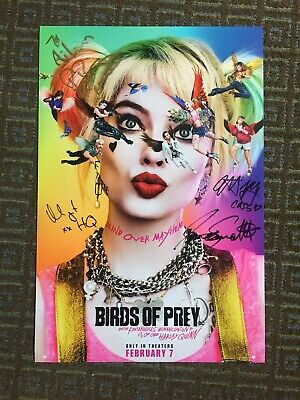 CAST SIGNED BIRDS of PREY 2019 NYCC Harley Quinn Movie Poster BOP joker batman 1