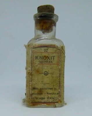 Antique BIM, Knoxit Globules Bottle  Early 1920's