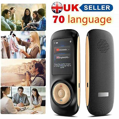 """T2s Smart Instant Voice Translator 70 Languages 2.4"""" Screen For Businiess Travel"""