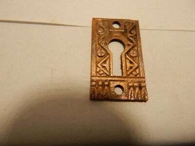 Antique Door Key Holes Escutcheon Brass Eastlake (KH 45)
