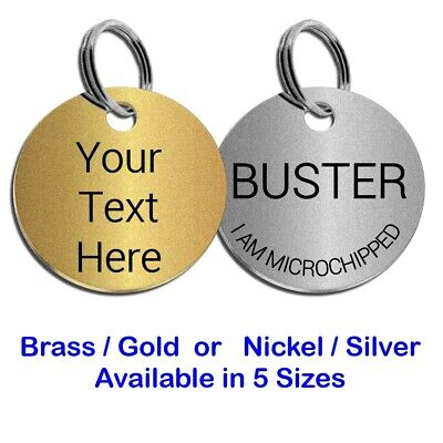 Round Engraved Pet Id Dog Tag Name Disc Large Or Small