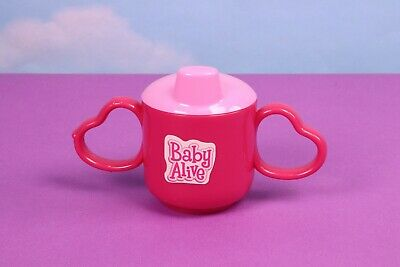 Baby Alive Sippy Cup Pink Heart Handle Replacement Accessory 3 In 1 Cook 'n Care