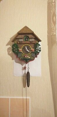 One weight Antique Wood  Cuckoo Clock in good working order
