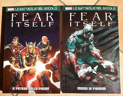 PANINI MARVEL - LE BATTAGLIE DEL SECOLO 8 e 9 - FEAR ITSELF DUE VOLUMI COMPLETA