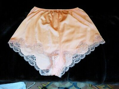 Beautiful Peach/Orange Charnos Thicker Nylon Vintage French Knickers uk 16