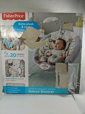 Fisher- My Little Snugapuppy Deluxe Bouncer White DTH04 887961354348