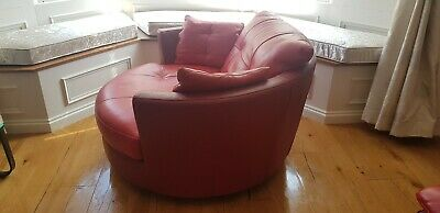 Peachy Dfs Freya Large Red Leather Swivel Chair 130 00 Picclick Uk Cjindustries Chair Design For Home Cjindustriesco