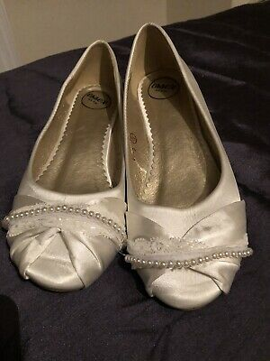 Ivory ballet flat Shoes For Wedding Size 5