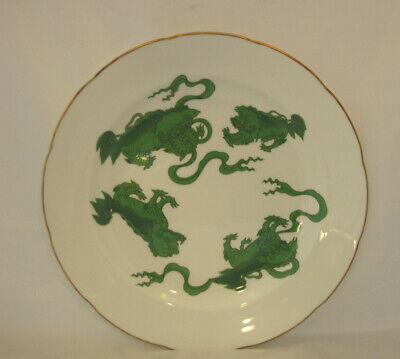 """Wedgwood Chinese Tigers Green Dinner Plate, 11"""" Very Good Condition"""