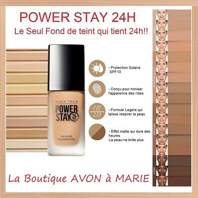 POWER STAY Fond de teint AVON TRUE: 24 Heures ULTRA LONGUE TENUE