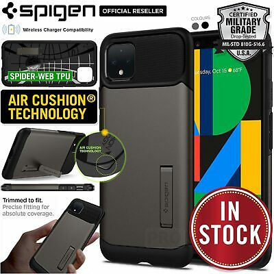 Google Pixel 4 XL Case Genuine Spigen Slim Armor Heavy Duty Kickstand Hard Cover