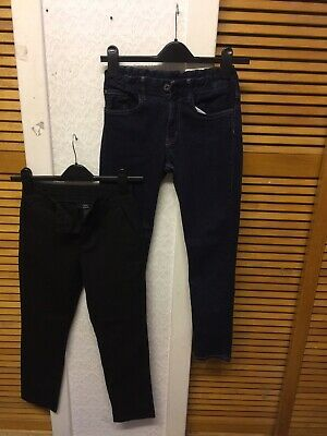 2BUNDLE SALES BOYS NEXT SCHOOL Uniform & H&M Denim Jeans Trousers AGES 10YEARS ""