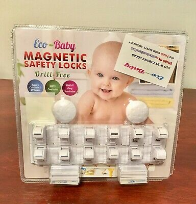 Eco-Baby Child Safety Magnetic Cabinet And Drawer Locks For Proofing. New.