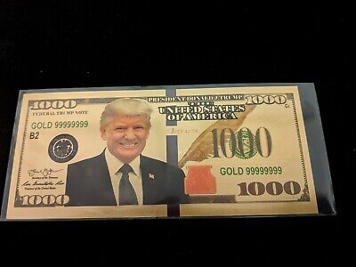 US DONALD TRUMP 2020 $1000 Republican Dollar Bill