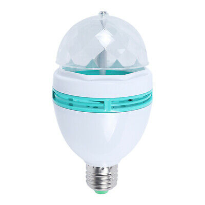 LED Rotate Color Stage Light Crystal Magic Ball Lamp KTV Disco Flash
