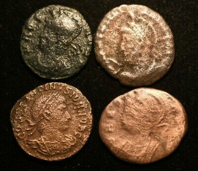 Lot 4 X Imperial Roman Coins  - Good - Ae4 And Ae3