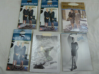 Bulk Lot 6X Kolotex and Sheer Relief Pantyhose X-Tall