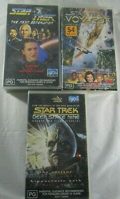 Star Trek VHS TheNextGeneration,Voyager and Deep Space Nine. All 2 episode Tapes