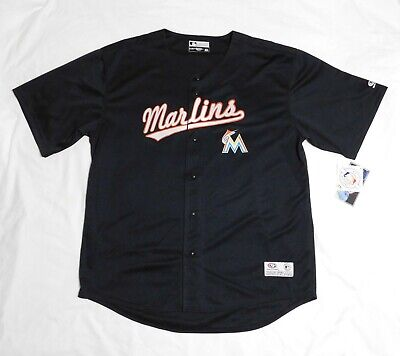 NEW Authentic Miami Marlins black Jersey adult EXTRA LARGE (XL) Official