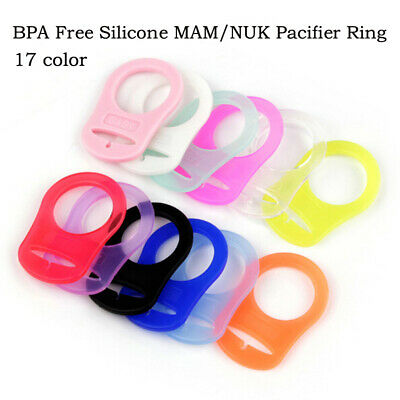 Silicone Baby Button Clip Rings Adapter Holder Clip Dummy Pacifier Nipple Acc