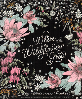 Where The Widflowers Grow Adult Colouring Book Magazine