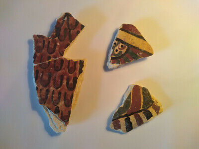 Ancient Egyptian Painted Cartonnage Fragments